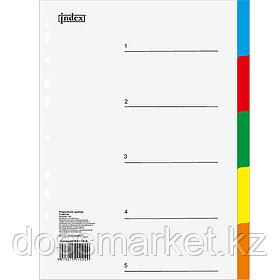 Разделитель пластиковый от 1 до 5, цифровой, цветной