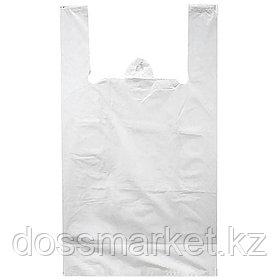 "Пакет ""Маечка"" в рулонах 30шт  размер средние 30*50 цвет белый"