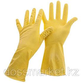 Перчатки резиновые желтые