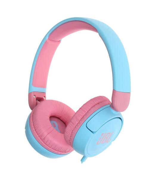 Гарнитура накладные JBL JR 310 проводные 1м, голубой/розовый (JBLJR310BLU)