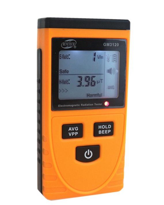 GM3120 тестер напряженности электрического поля до 1999 В/м и магнитного поля до 19,99 мкТл