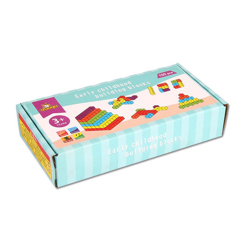 Деревянные цветные кубики