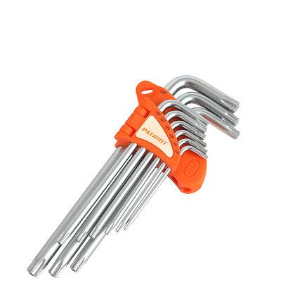 Набор ключей PATRIOT SKТ-9L, TORX, длинные, T10-T50, CRV, 9 шт, фото 2
