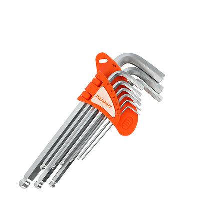 Набор ключей PATRIOT SKH-9L, шестигранные с шаром, длинные, 1,5-10мм, CRV, 9 шт, фото 2
