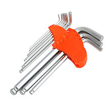 Набор ключей PATRIOT SKH-9L, шестигранные с шаром, длинные, 1,5-10мм, CRV, 9 шт, фото 3