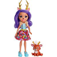 Кукла Enchantimals Данэсса Оленни с любимой зверюшкой, 15 см, FXM75