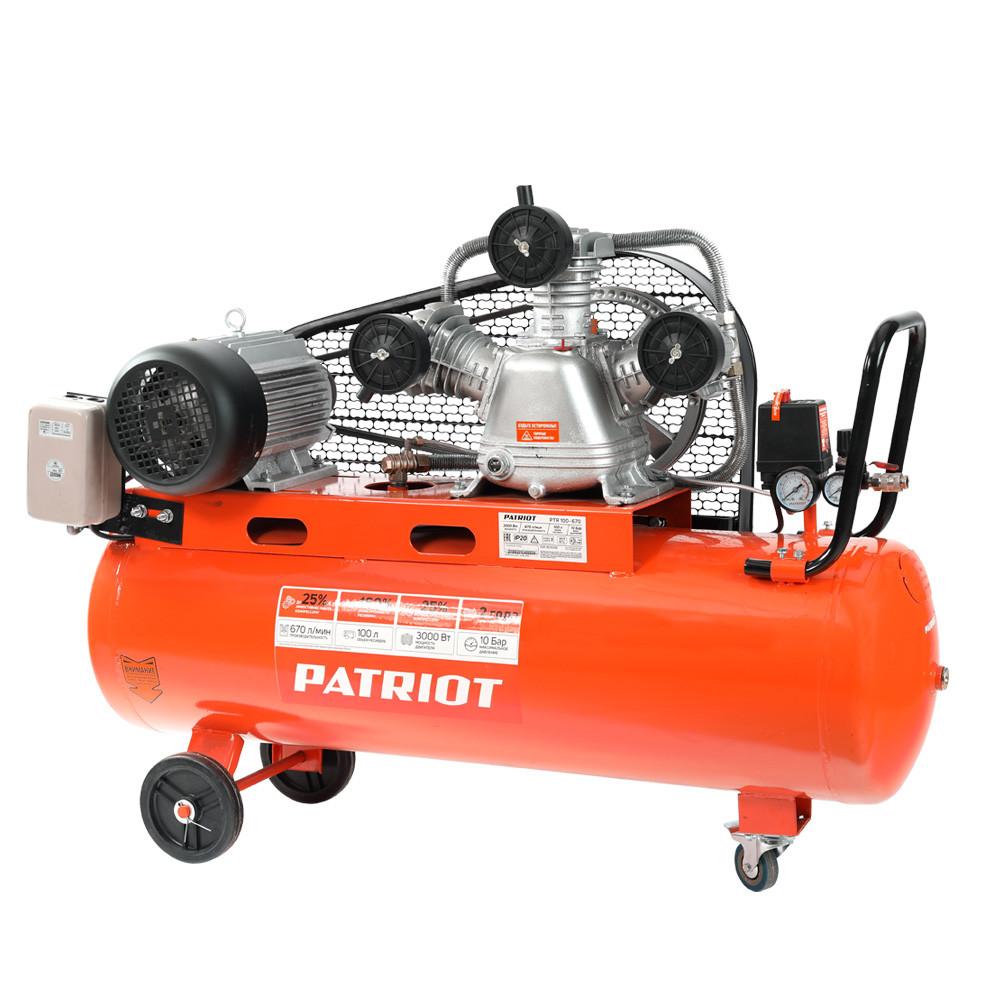 Компрессор поршневой ременной Patriot PTR 100-670