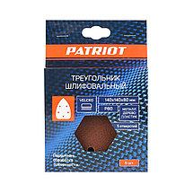 Треугольник шлифовальный PATRIOT на липучке, 140х140х80мм, Р80, 5 шт, фото 2