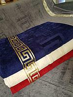 Покрывало - плед велюр/махра. Серый цвет. Хлопок 100%, размер 200х220 см. Турция.