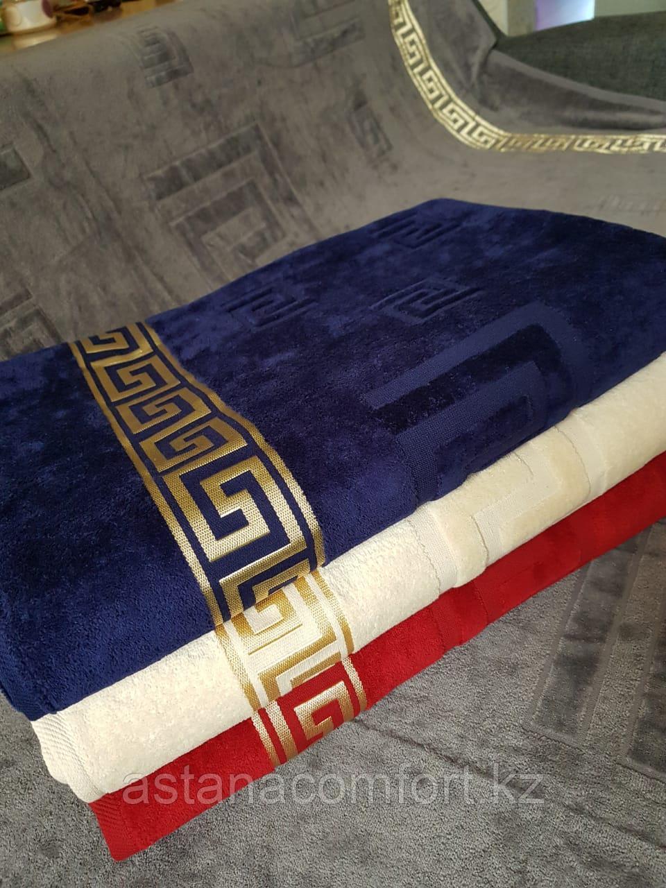 Покрывало - плед велюр/махра. Бордовый цвет. Хлопок 100%, размер 200х220 см. Турция.
