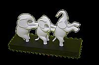Слон из 3 шт Белый 21 см