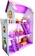 Кукольный дом 3 этажа 1,120 м*81*36 см.