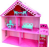Кукольный дом 2 этажа с балконом 97*93*42 см.