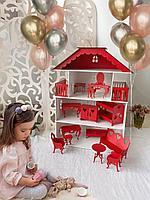 Кукольный дом 3 этажа с балконом 80*55*30 см.