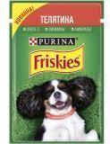 Friskies с Телятиной в подливе Влажный корм для собак, 85г
