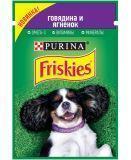 Friskies с Говядиной и ягненком в подливе Влажный корм для собак, 85г