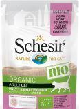Schesir Bio свинина 85г влажный корм с био-ингредиентами для кошек, фото 1