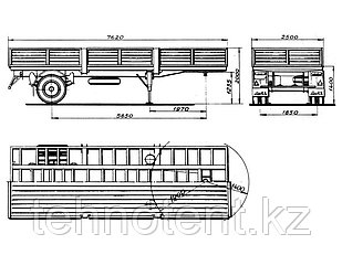 Тент на полуприцеп КЗАП-9370, ОДАЗ-9370