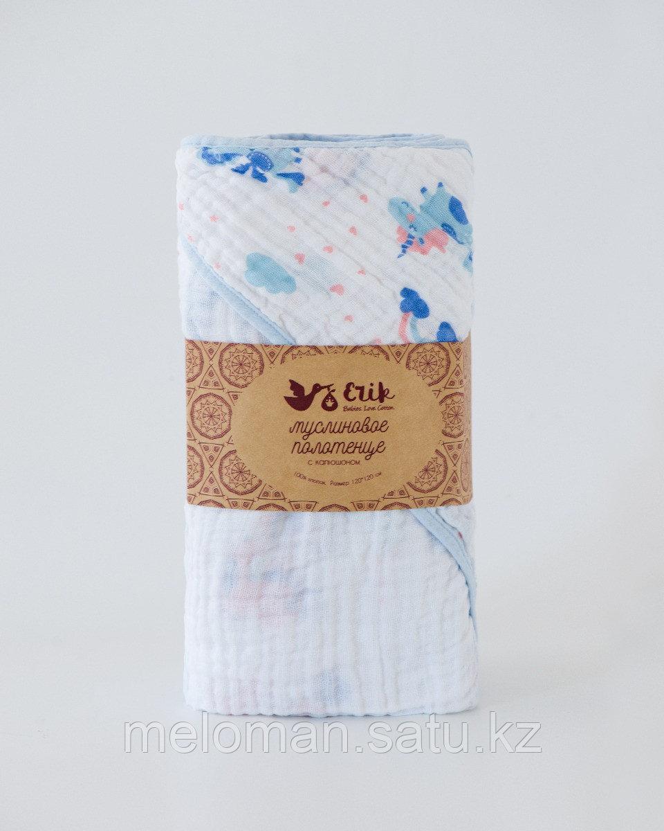 Erik: Муслиновое полотенце Единороги 120*120 - фото 2