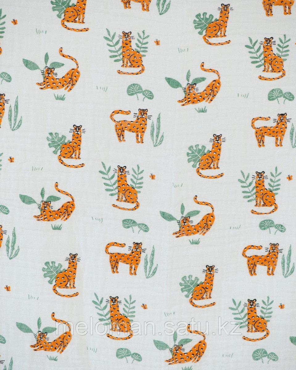 Erik: Муслиновое полотенце Леопарды 120*120 - фото 3