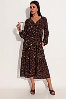 Женское летнее из вискозы черное большого размера платье Michel chic 2061 черный 44р.