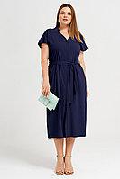 Женское летнее из вискозы синее большого размера платье Панда 41780z синий 48р.