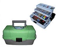 Ящик рыболова ТОНАР HELIOS трехполочный (зеленый)(1,45кг) R85397