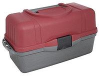 Ящик рыболова ТОНАР HELIOS трехполочный (красный)(1,45кг) R85398