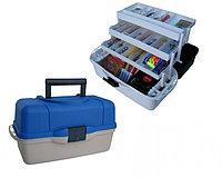 Ящик рыболова ТОНАР HELIOS трехполочный (синий)(1,45кг) R85399