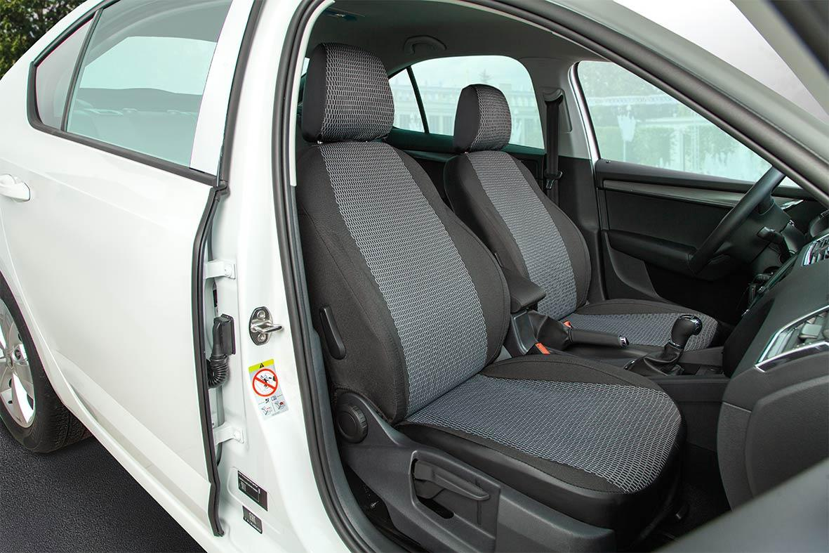 Авточехлы из жаккарда Hyundai Solaris (2017-2021) Серый