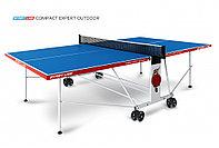 Стол теннисный Start line Compact EXPERT outdoor BLUE (всепогодный с сеткой)