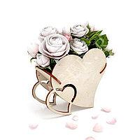 Корзина для цветов «Сердечко»
