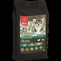 BLITZ PUPPY TURKEY & DUCK беззерновой корм для щенков Индейка&Утка 12 кг
