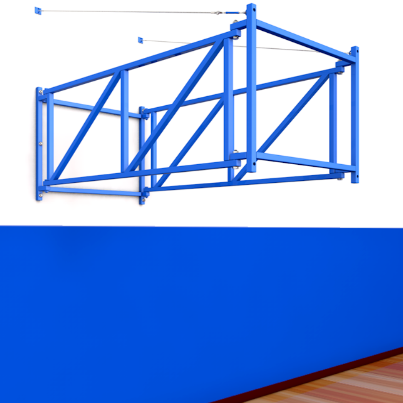 Ферма для игрового баскетбольного щита с выносом 1,2м складная