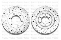 Тормозные диски Gerat DSK-F042P (ПЕРЕДНИЕ) Toyota Land Cruiser Prado 120/150, Lexus GX470