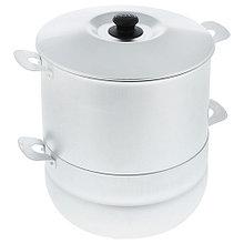 Мантоварка алюминиевая Белая Калитва 180645, 6 л, 4 сетки