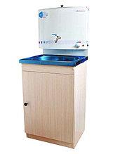 Умывальник дачный Акватекс с подогревом воды (ЭВН), тумба ЛДСП, ЭВН белый, нержавеющая мойка