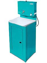 Умывальник Акватекс с подогревом воды (ЭВН), цвет лагуна, пластиковая мойка