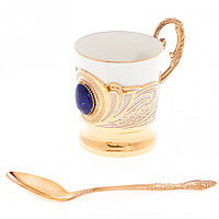 """Кофейная чашка """"Лазурит"""" фарфор 80 мл в подарочной упаковке Златоуст"""