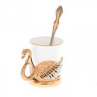 """Кофейная чашка """"Белый лебедь"""" фарфор 80 мл в подарочной упаковке Златоуст"""