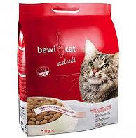 751 525 BEWI-CAT ADULT, Бэви-Кэт, корм для взрослых кошек с курицей, весовой 1 кг.