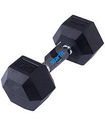 Гантель обрезиненная DB-301 12 кг, черная Starfit