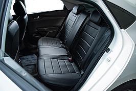 Авточехлы из экокожи Toyota Avensis (2002-2009) Черный