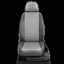 Авточехлы из экокожи Hyundai Tucson (2015-2019) Ромб, Серый