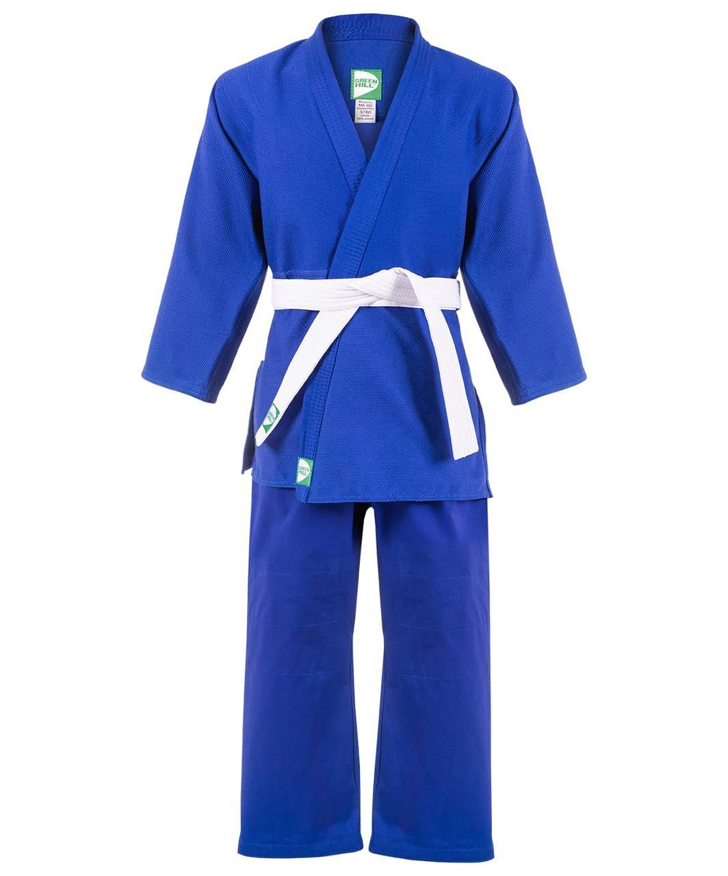 Кимоно для дзюдо MA-302, синий,  Green Hill