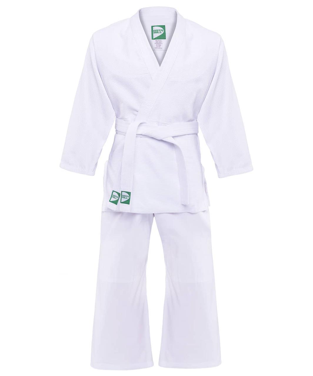 Кимоно для дзюдо MA-302 белый,  Green Hill