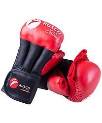 Перчатки для рукопашного боя PRO, к/з, красный Rusco