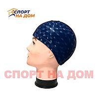 Шапочка для плавания PU SWIMMING CAP (цвет тёмно-синий)