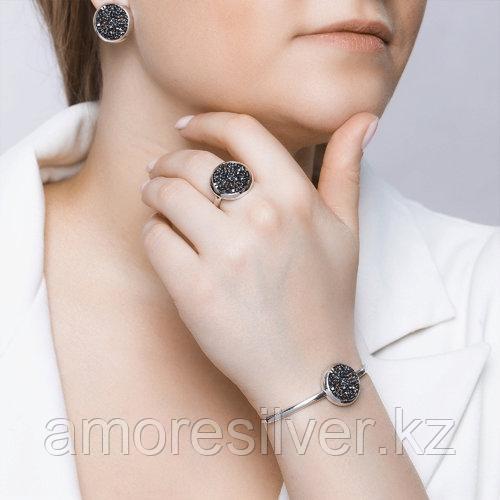 Серьги SOKOLOV серебро с родием, кристалл swarovski fine rocks , многокаменка 94022680 - фото 6