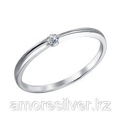"""Обручальное кольцо SOKOLOV серебро с родием, фианит , """"каратник"""" 94010628 размеры - 15 16"""